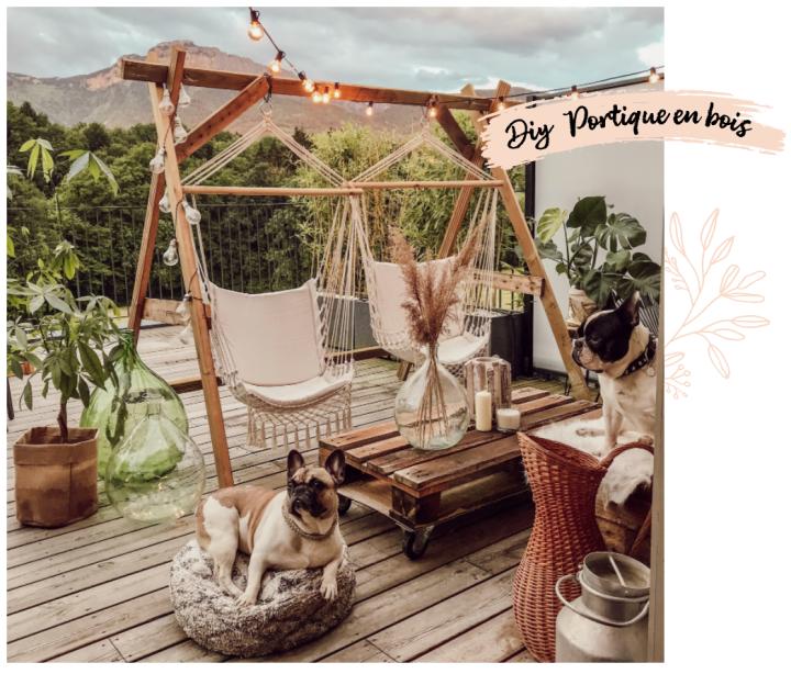 DIY portique terrasse